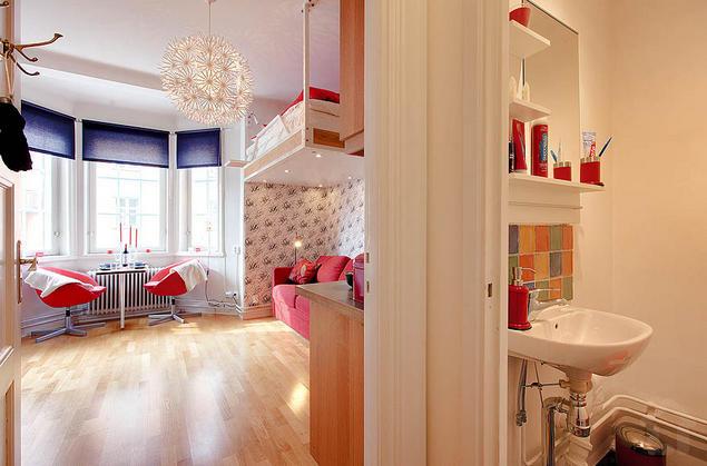 Với thiết kế thông minh nên dù căn hộ rất hạn chế về diện tích vẫn rất rộng và thoáng sáng.