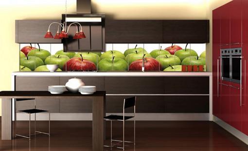 Hình ảnh về môi trường xung quanh như hoa lá hoặc trái cây sẽ làm gian phòng nhà bếp phát triển thành đầm ấm và sống động hơn.