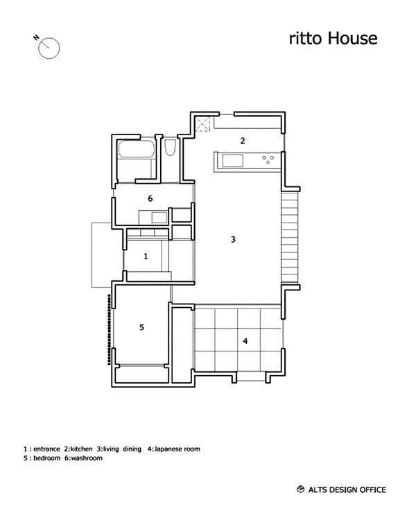 Sơ đồ bố trí toàn bộ không gian chức năng trong ngôi nhà.