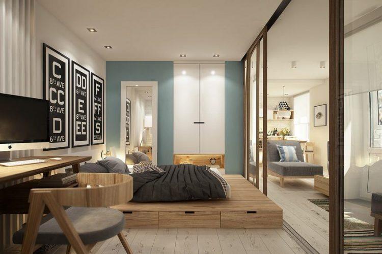 Một không gian nhỏ với vô vàn những chức năng sử dụng, nếu không khéo léo, căn phòng dễ bị rơi vào trạng thái chật chội, lộn xộn.