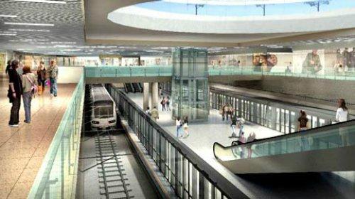 Phối cảnh khu mua sắm ngầm và nhà ga trung tâm Bến Thành thuộc tuyến metro số 1. Ảnh: Ban quan đường sắt đô thị TP HCM