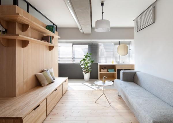 Những cửa trượt truyền thống dán một lớp giấy mờ giúp phân tách các khu vực sinh hoạt trong nhà rất hiệu quả, mà lại tiết kiệm không gian rất tốt.