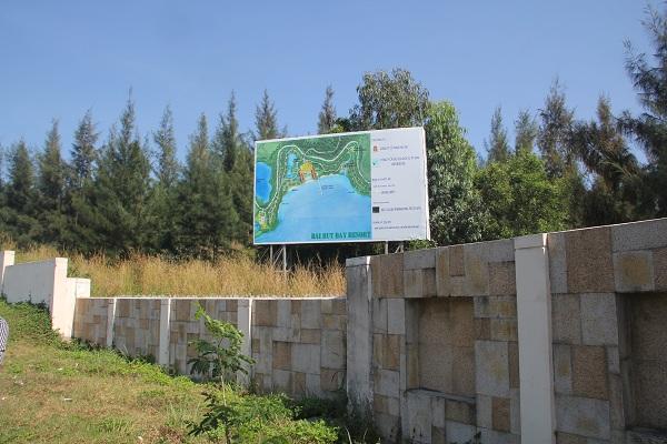 Dự án Khu du lịch Bãi Bụt của Công ty CP Hải Duy đắp chiếu nhiều năm qua