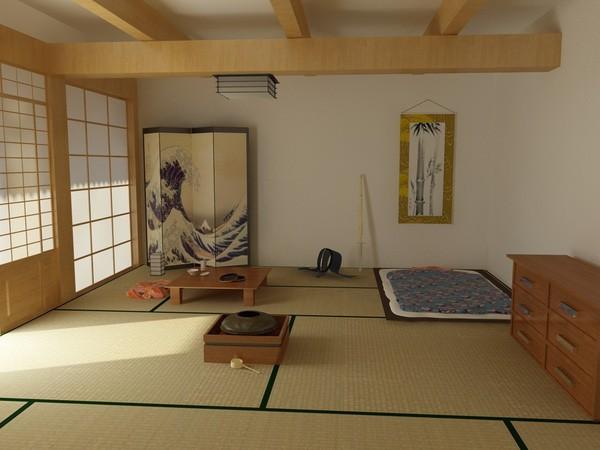 Vì thế, việc kê thêm một chiếc giường sẽ khiến căn phòng như chật chội hơn, và hạn chế việc sử dụng với các chức năng khác. Vì vậy, người Nhật chủ yếu sử dụng chiếu vào mùa hè và nệm vào mùa đông. Khi không sử dụng, chỉ cần cuộn gọn gàng và cất vào tủ.