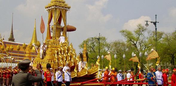 Chiếc xe ngựa cũng từng được sử dụng vào năm 2012 trong lễ hoả táng Công chúa Bejaratana Rajasuda.