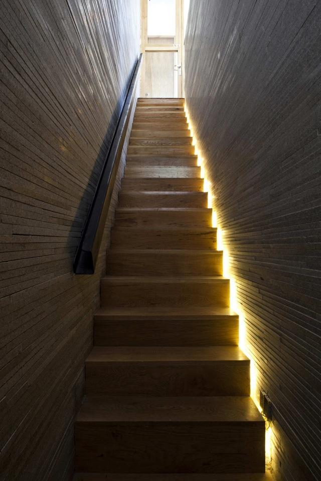 Những phần không gian bị hạn chế ánh sáng tự nhiên được bổ sung bằng hệ thống đèn điện