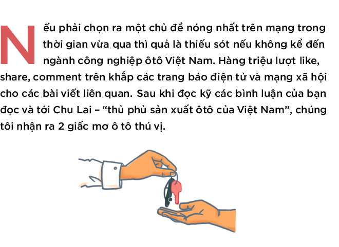 Hai giấc mơ của ngành công nghiệp ôtô Việt Nam - Ảnh 1.