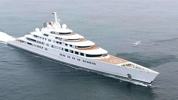 Du thuyền lớn nhất thế giới Azza dài khoảng 181 m. Ảnh: Seatime.