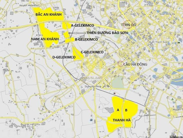 Dự án thuộc khu D của khu thành thị Geleximco.