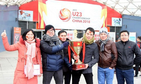 Một không khí rất khác trước ngày diễn ra trận chung kết U23 Châu Á: Màu cờ sắc áo đã tràn ngập khắp phố phường! - Ảnh 37.