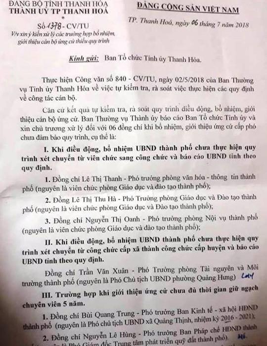 Con trai phó bí thư TP Thanh Hóa bị miễn nhiệm chức phó ban - Ảnh 2.