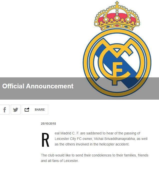 Truyền thông thế giới và nhiều đội bóng đau buồn khi chính thức nghe tin Chủ tịch Vichai qua đời - Ảnh 1.