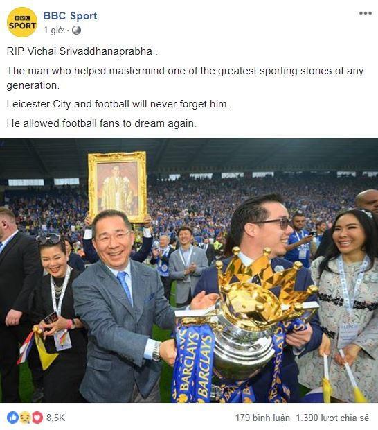Truyền thông thế giới và nhiều đội bóng đau buồn khi chính thức nghe tin Chủ tịch Vichai qua đời - Ảnh 5.