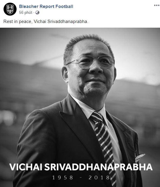 Truyền thông thế giới và nhiều đội bóng đau buồn khi chính thức nghe tin Chủ tịch Vichai qua đời - Ảnh 6.