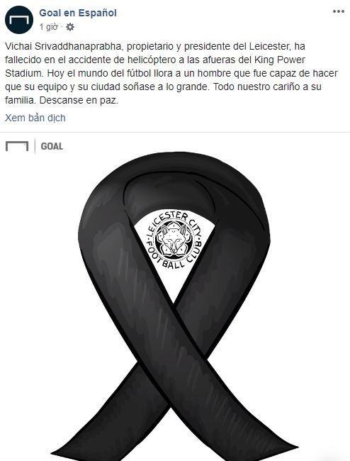 Truyền thông thế giới và nhiều đội bóng đau buồn khi chính thức nghe tin Chủ tịch Vichai qua đời - Ảnh 7.