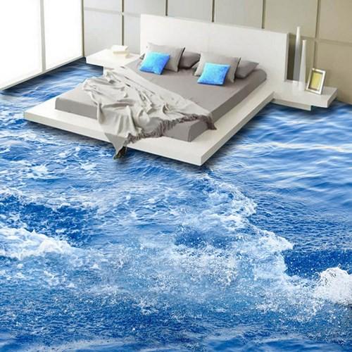 Những sàn nhà lát hình 3D khiến căn phòng như hòa mình vào môi trường xung quanh - Ảnh 1.