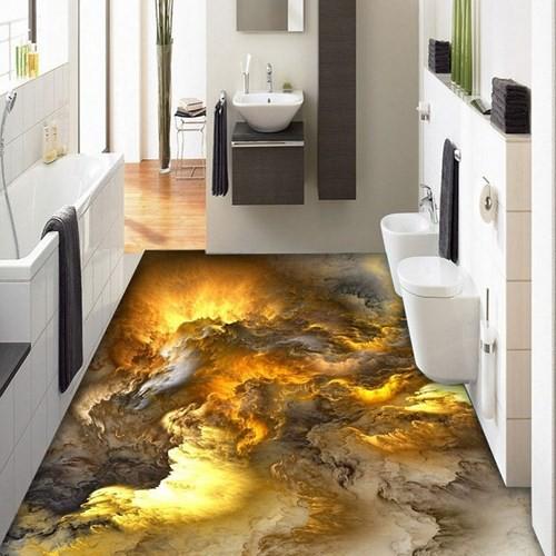 Những sàn nhà lát hình 3D khiến căn phòng như hòa mình vào môi trường xung quanh - Ảnh 2.