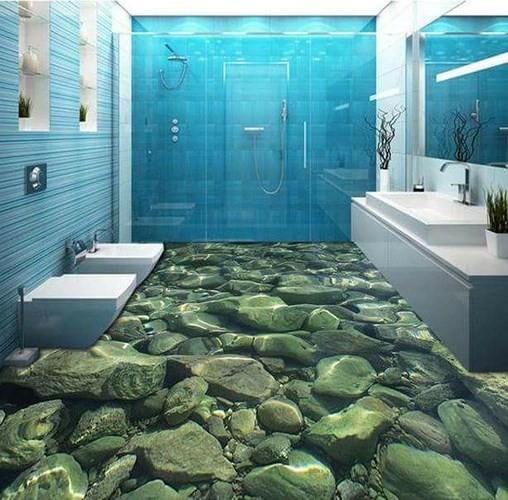 Những sàn nhà lát hình 3D khiến căn phòng như hòa mình vào môi trường xung quanh - Ảnh 11.