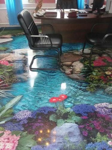 Những sàn nhà lát hình 3D khiến căn phòng như hòa mình vào môi trường xung quanh - Ảnh 5.