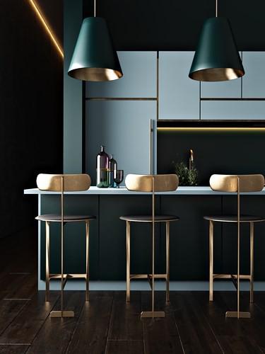 Ngắm phòng bếp được kiến trúc lung linh có màu xanh dương - Ảnh 4.