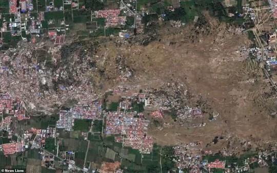 Sóng thần Indonesia: Cận cảnh đất hóa lỏng nhấn chìm cả làng - Ảnh 4.
