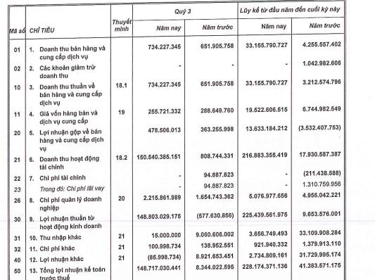 VRC: LNTT hợp nhất quý 3 tăng đột biến lên 149 tỷ đồng nhờ chuyển nhượng vốn - Ảnh 1.