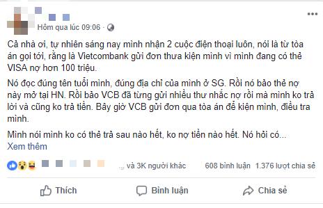 Hoang mang khi nhận cuộc gọi lạ thông báo bị khởi kiện do thẻ VISA nợ hơn 100 triệu: Vietcombank lên tiếng cảnh báo - Ảnh 1.