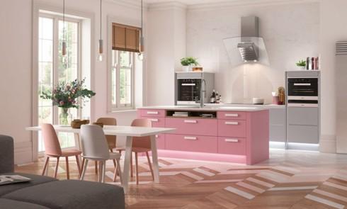 Phòng bếp ấm cúng với gam màu hồng - Ảnh 8.