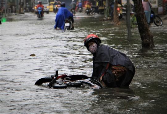 Sáng 26-11, TPHCM nhiều nơi vẫn ngập sâu, rác, nhánh cây gãy la liệt - Ảnh 6.