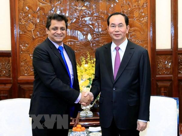 Chủ tịch nước Trần Đại Quang tiếp Tổng Giám đốc Tập đoàn Tata - Ảnh 1.