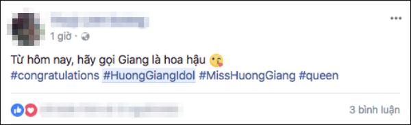 Từ hôm nay hãy gọi Hương Giang là Hoa hậu chính là câu nói hot nhất ngày hôm nay! - Ảnh 3.