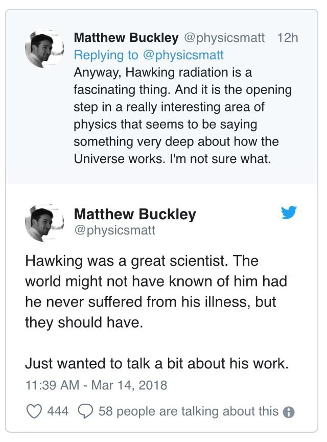 """Đây là cách """"cả thế giới"""" thể hiện niềm thương tiếc trước sự ra đi của nhà bác học vĩ đại Stephen Hawking - Ảnh 6."""