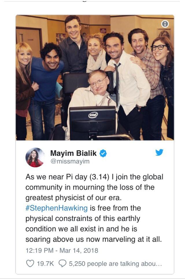 """Đây là cách """"cả thế giới"""" thể hiện niềm thương tiếc trước sự ra đi của nhà bác học vĩ đại Stephen Hawking - Ảnh 5."""