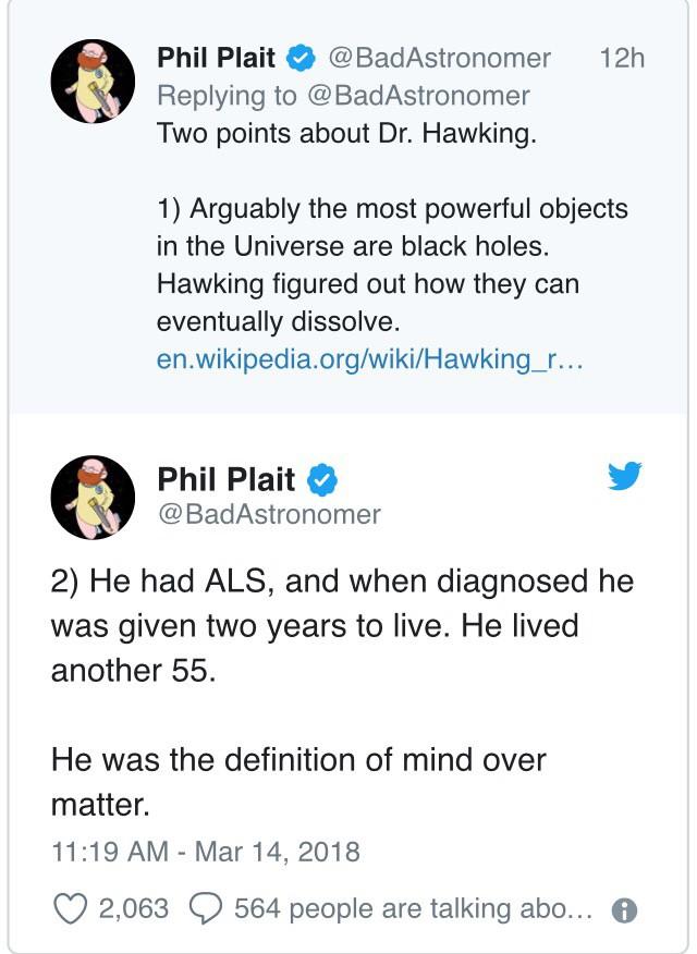 """Đây là cách """"cả thế giới"""" thể hiện niềm thương tiếc trước sự ra đi của nhà bác học vĩ đại Stephen Hawking - Ảnh 4."""