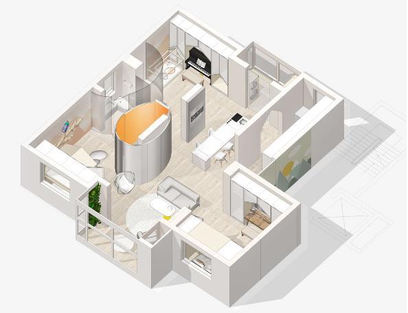 Thiết kế phá cách, ấn tượng của căn hộ cao tầng hơn 100m2 cho gia đình có con nhỏ - Ảnh 20.