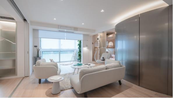 Thiết kế phá cách, ấn tượng của căn hộ cao tầng hơn 100m2 cho gia đình có con nhỏ - Ảnh 3.