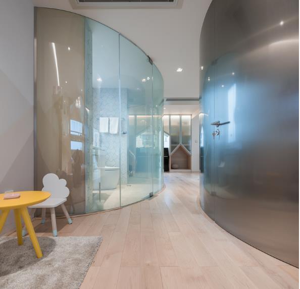 Thiết kế phá cách, ấn tượng của căn hộ cao tầng hơn 100m2 cho gia đình có con nhỏ - Ảnh 7.