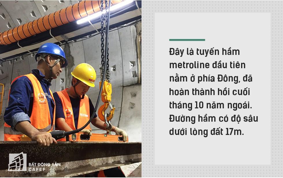 Ngắm đường hầm tàu điện đầu tiên tại Việt Nam sâu 17m dưới lòng đất Sài Gòn - Ảnh 2.