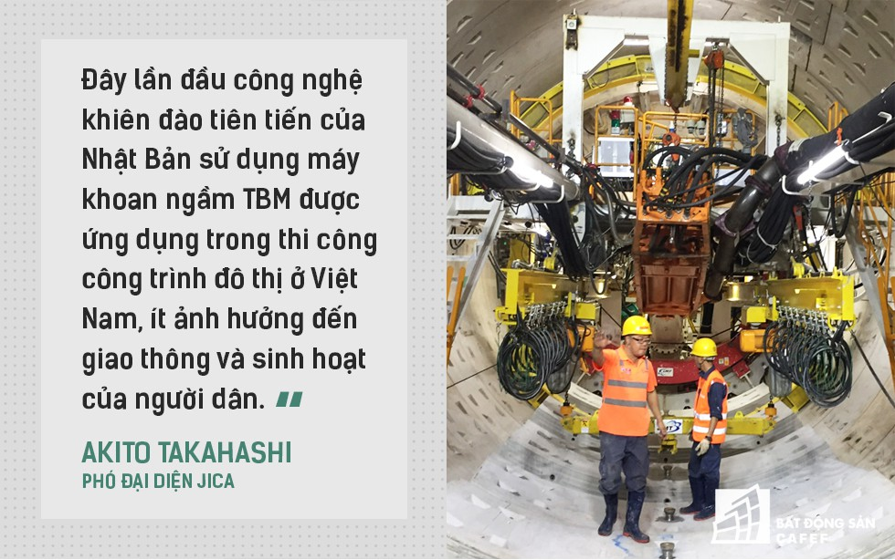 Ngắm đường hầm tàu điện đầu tiên tại Việt Nam sâu 17m dưới lòng đất Sài Gòn - Ảnh 5.