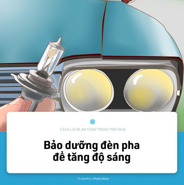 [Photo Story] Lái xe an toàn hơn trong mưa với 15 nguyên tắc sau đây - Ảnh 2.