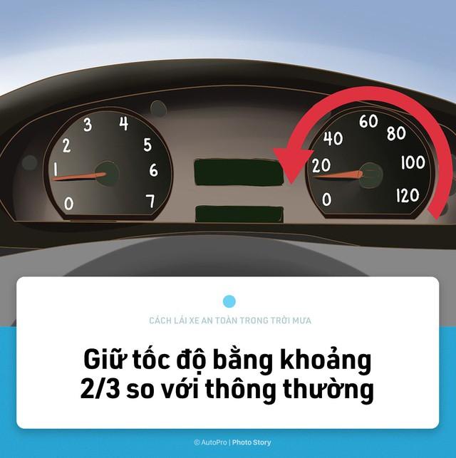 [Photo Story] Lái xe an toàn hơn trong mưa với 15 nguyên tắc sau đây - Ảnh 5.