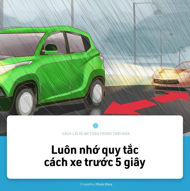 [Photo Story] Lái xe an toàn hơn trong mưa với 15 nguyên tắc sau đây - Ảnh 9.