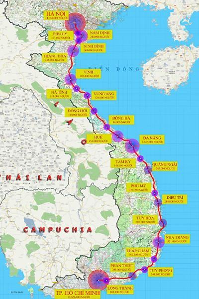 Đường sắt tốc độ cao Bắc - Nam sẽ chạy qua 20 tỉnh nào? - Ảnh 1.