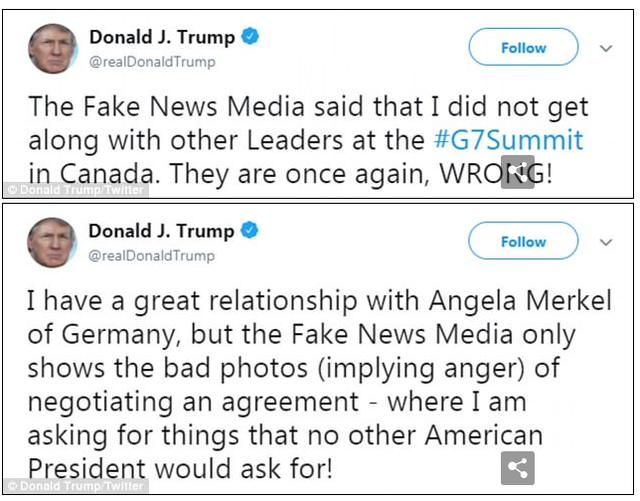 Tổng thống Trump tiết lộ sự thậtđằng sau bức ảnh cô lập ông tại G7 - Ảnh 1.