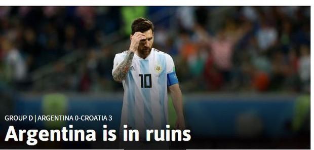Truyền thông thế giới sốc: Messi và Argentina bên bờ vực thẳm - Ảnh 2.