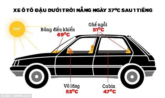 Đậu ô tô ngoài trời nắng: Nguy cơ sốc nhiệt đến tử vong cho trẻ nhỏ - Ảnh 1.