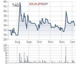 Cổ phiếu TAG trong vòng 6 tháng qua.