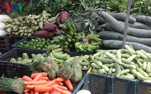 Giá rau củ ở Hà Nội rục rịch tăng do mưa lớn kéo dài - Ảnh 1.