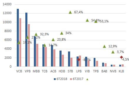 Nhiều ngân hàng báo lãi kỷ lục nửa đầu năm - Ảnh 3.