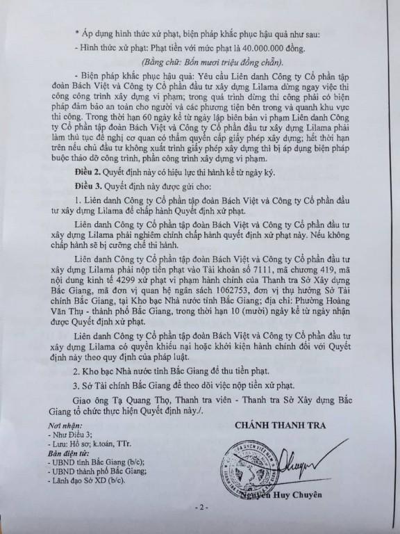 Bắc Giang: Chung cư Bách Việt Areca Garden xây dựng tới tầng 4 mới phát hiện chưa có GPXD - Ảnh 3.
